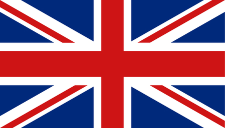 United kingdom flag icon in flat style. Great Britain sign vector illustration. Politic business concept. Ilustrace