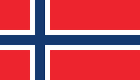 Norway flag icon in flat style. National sign vector illustration. Politic business concept.