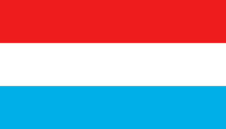 Luxembourg flag icon in flat style. National sign vector illustration. Politic business concept. Illustration