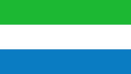 Sierra Leone flag icon in flat style. National sign vector illustration. Politic business concept.