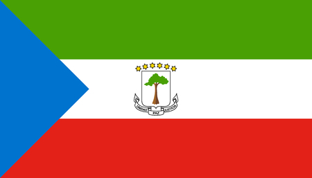 Equatorial Guinea flag icon in flat style. National sign vector illustration. Politic business concept. 向量圖像