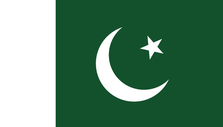 Pakistan flag icon in flat style. National sign vector illustration. Politic business concept.