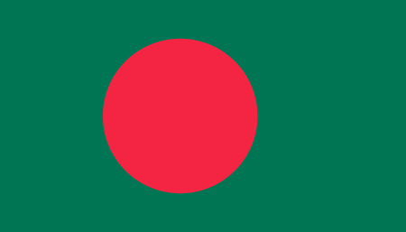 Bangladesh flag icon in flat style. National sign vector illustration. Politic business concept.