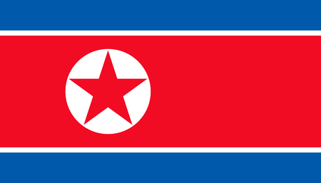 North Korea flag icon in flat style. National sign vector illustration. Politic business concept. Imagens - 120891645