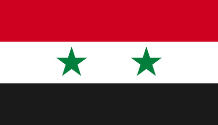 Syria flag icon in flat style. National sign vector illustration. Politic business concept. Illustration