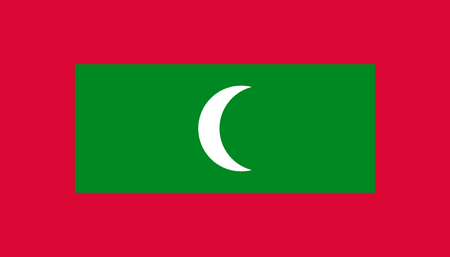 Maldives flag icon in flat style. National sign vector illustration. Politic business concept. Stock Illustratie