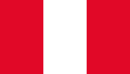 Peru flag icon in flat style. National sign vector illustration. Politic business concept.