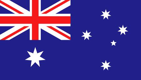 Icône de drapeau de l'Australie dans un style plat. Illustration vectorielle de signe national. Concept d'entreprise politique.