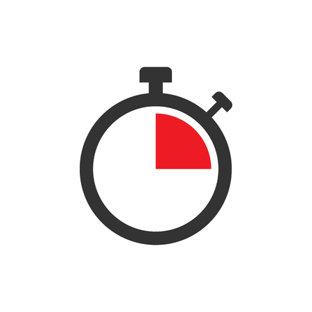 Clock sign icon in flat style. Time management vector illustration on white isolated background. Timer business concept.