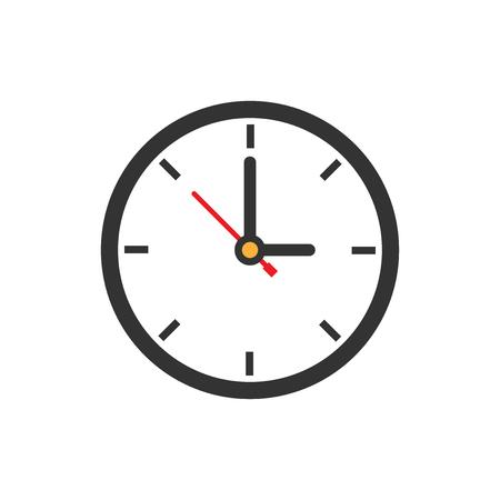 Icône de signe d'horloge dans un style plat. Illustration vectorielle de gestion du temps sur fond isolé blanc. Concept d'entreprise de minuterie. Vecteurs