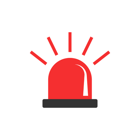 Emergency siren icon in flat style. Police alarm vector illustration on white isolated background. Medical alert business concept. Vektorové ilustrace