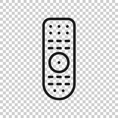 Fernbedienungssymbol im transparenten Stil. Infrarot-Controller-Vektor-Illustration auf weißem Hintergrund. TV-Tastatur-Geschäftskonzept.