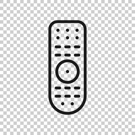 Remote control icon in transparent style. Infrared controller vector illustration on isolated background. Tv keypad business concept.