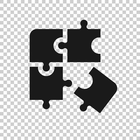 Icona compatibile con puzzle in stile trasparente. Illustrazione di vettore di accordo di puzzle su priorità bassa isolata. Concetto di affari della soluzione di cooperazione.