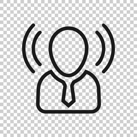 Icône de sensibilisation de l'esprit dans un style transparent. Illustration de vecteur humain idée sur fond isolé. Concept d'entreprise de cerveau client.