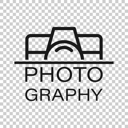 Icono de signo de dispositivo de cámara en estilo transparente. Ilustración de vector de fotografía sobre fondo aislado. Concepto de negocio de equipos de leva.