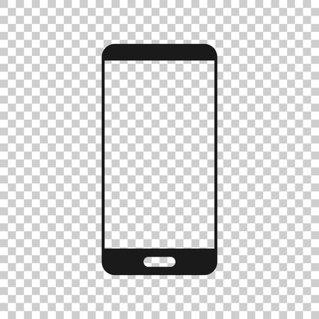 Phone device sign icon in transparent style. Smartphone vector illustration on isolated background. Telephone business concept.