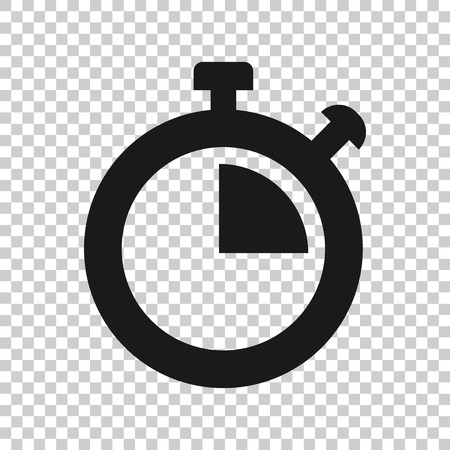 Clock sign icon in transparent style.