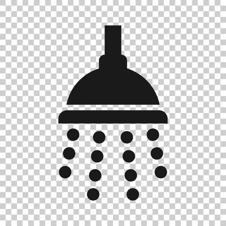 Shower sign icon in transparent style. Bathroom water device illustration on isolated background. Wash business concept.  イラスト・ベクター素材