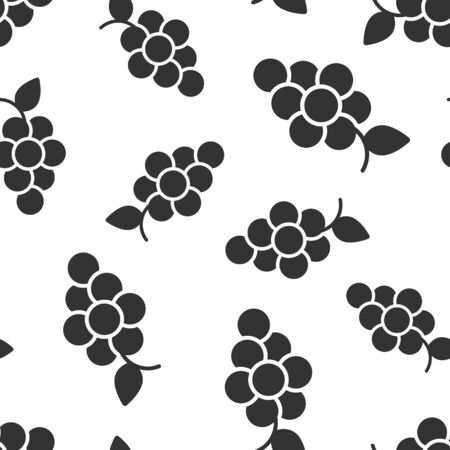 Grape fruits sign icon seamless pattern background. Grapevine vector illustration on white isolated background. Wine grapes business concept.