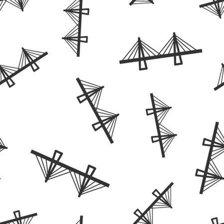 Puente signo icono de fondo transparente. Ilustración de vector de puente levadizo sobre fondo blanco aislado. Concepto de negocio por carretera. Ilustración de vector