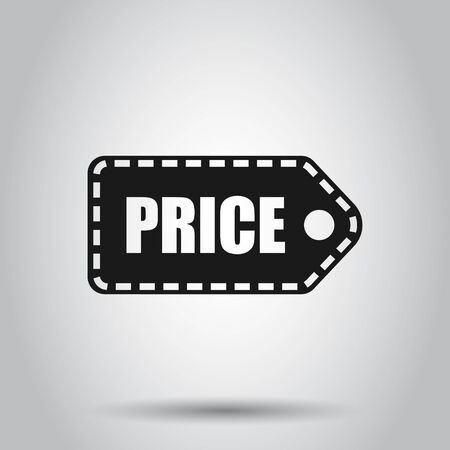 Price coupon icon in flat style. Price tag vector illustration on isolated background. Sale sticker business concept.