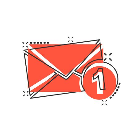 Mail envelope icon in comic style. Email message vector cartoon illustration pictogram. Mailbox e-mail business concept splash effect.