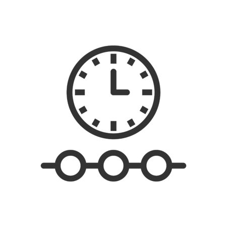 Timeline icon in flat style. Progress vector illustration on white isolated background. Diagram business concept.