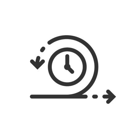 Icône agile dans un style plat. Illustration vectorielle flexible sur fond isolé blanc. Concept d'entreprise de cycle de flèche.