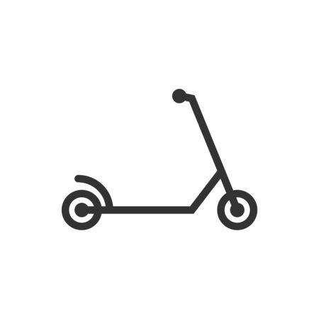 Electric scooter icon in flat style. Bike vector illustration on white isolated background. Transport business concept.