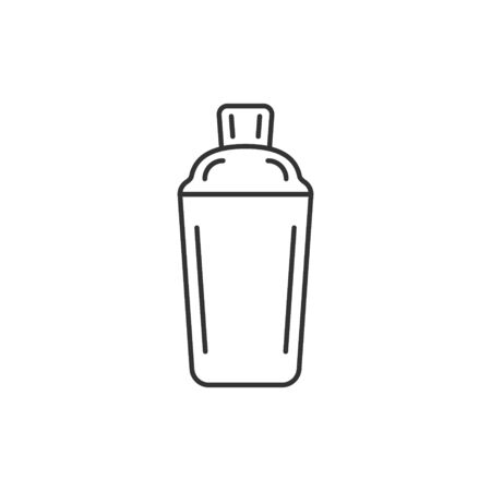 Shaker cocktail icon in flat style. Alcohol bottle vector illustration on white isolated background. Bar drink business concept.
