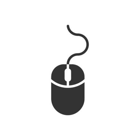 Computer mouse icon in flat style. Cursor vector illustration on white isolated background. Pointer business concept. Illusztráció