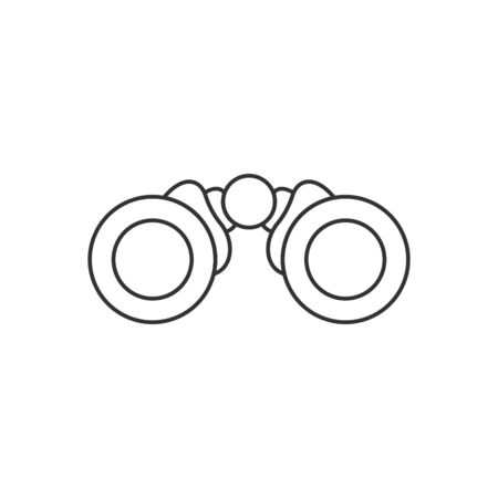 Binocular icon in flat style. Search vector illustration on white isolated background. Zoom business concept.