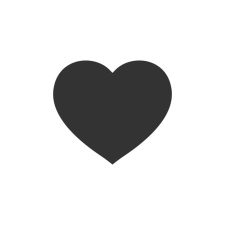 Heart icon in flat style. Love vector illustration on white isolated background. Romantic business concept.