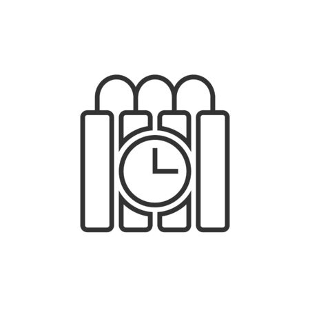 Bomb icon in flat style. Dynamite vector illustration on white isolated background. C4 tnt business concept.