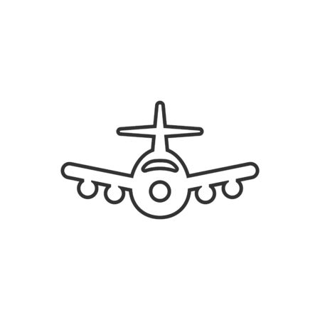 Plane icon in flat style. Airplane vector illustration on white isolated background. Flight airliner business concept. 일러스트