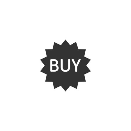 Online shopping star icon in flat style. Buy button vector illustration on white isolated background. E-commerce business concept.