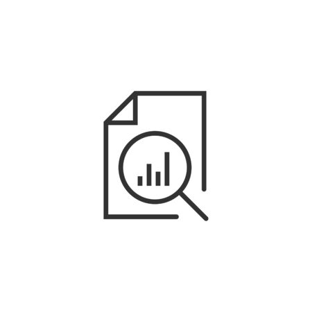 Financial statement icon in flat style. Result vector illustration on white isolated background. Report business concept.  イラスト・ベクター素材