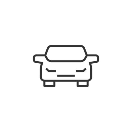 Car icon in flat style. Automobile vehicle vector illustration on white isolated background. Sedan business concept. Zdjęcie Seryjne - 137433707