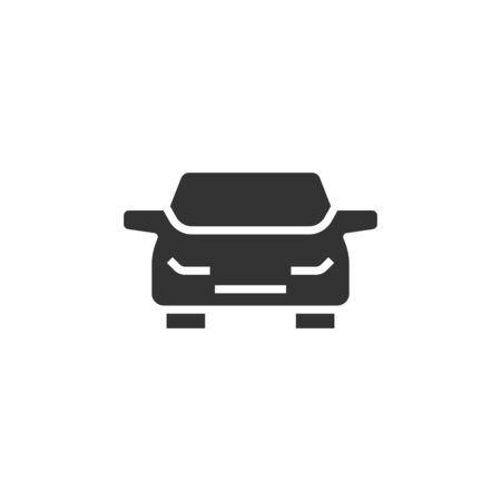 Car icon in flat style. Automobile vehicle vector illustration on white isolated background. Sedan business concept. Zdjęcie Seryjne - 137430594