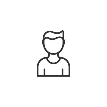 People communication icon in flat style. People vector illustration on white background. Partnership business concept. Illusztráció