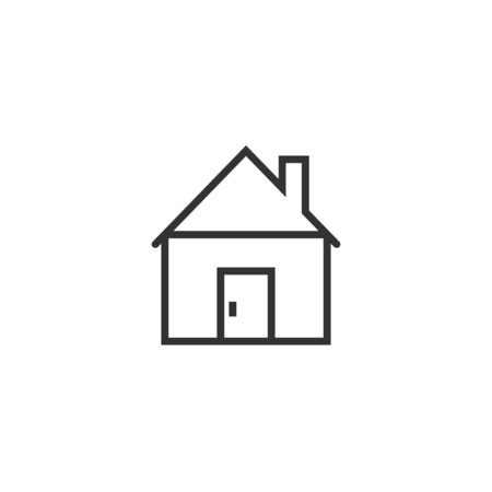 Building icon in flat style. Home vector illustration on white isolated background. House business concept. Illusztráció