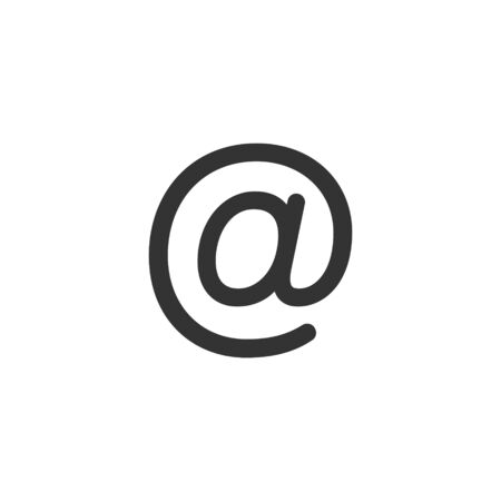 Email message icon in flat style. Mail document vector illustration on white isolated background. Message business concept. Illusztráció