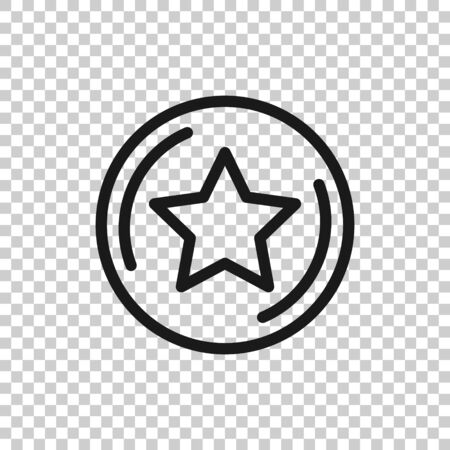 Loyalty icon in flat style. Reward vector illustration on white isolated background. Discount business concept. Ilustrace