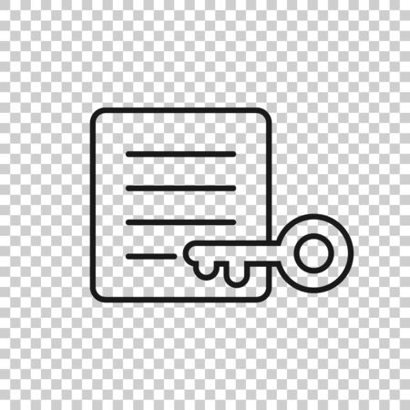 Password account icon in flat style. Keyword vector illustration on white isolated background. Key combination business concept.