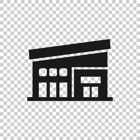 Mall icon in flat style. Store vector illustration on white isolated background. Shop business concept.