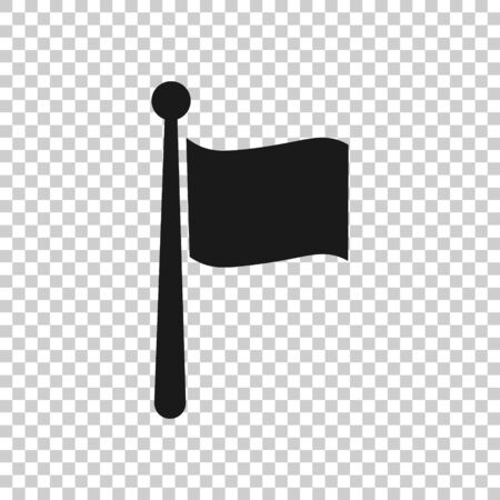 Flag icon in flat style. Pin vector illustration on white isolated background. Flagpole business concept. 向量圖像