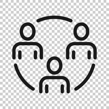 People communication icon in flat style. People vector illustration on white background. Partnership business concept. 向量圖像