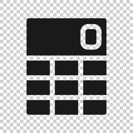 Calculator icon in flat style. Calculate illustration on white isolated background. Calculation business concept. Ilustrace