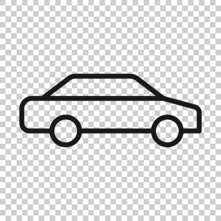 Car icon in flat style. Automobile vehicle illustration on white isolated background. Sedan business concept. Ilustrace